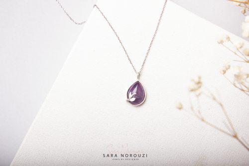 گردنبند نقره / جواهرات سارا نوروزی