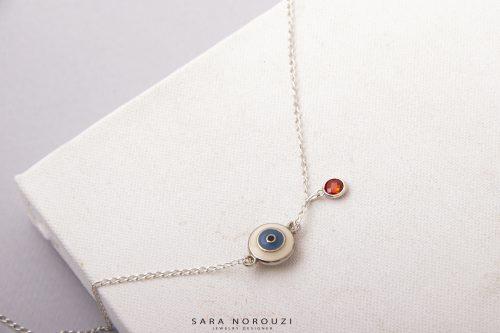 جواهرات سارا نوروزی دستبند نقره چشم نظر